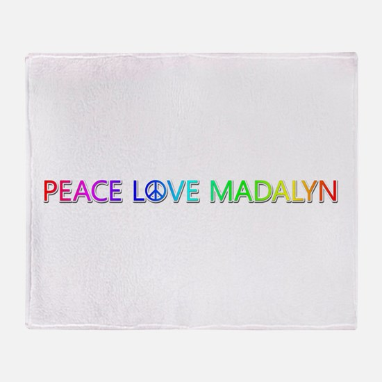 Peace Love Madalyn Throw Blanket