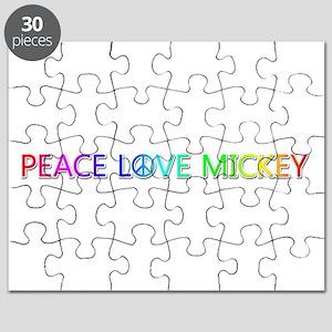 Peace Love Mickey Puzzle