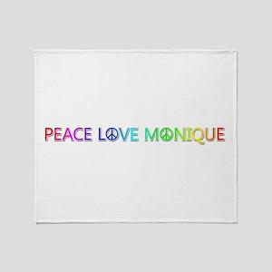 Peace Love Monique Throw Blanket