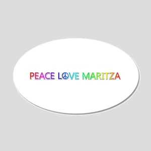 Peace Love Maritza 20x12 Oval Wall Decal