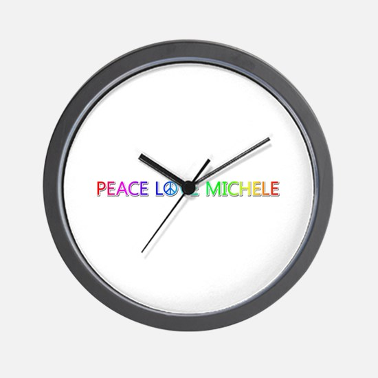 Peace Love Michele Wall Clock