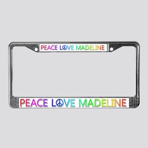 Peace Love Madeline License Plate Frame