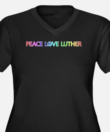 Peace Love Luther Plus Size T-Shirt