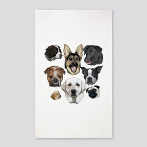 Dog collage Area Rug