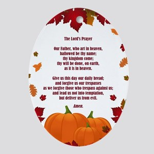 THE LORD'S PRAYER Oval Ornament