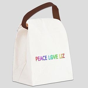 Peace Love Liz Canvas Lunch Bag