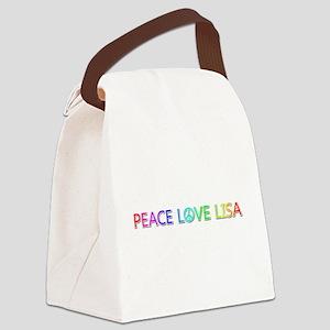 Peace Love Lisa Canvas Lunch Bag