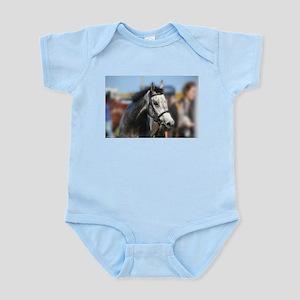Portrait of the Grey Race Horse Body Suit