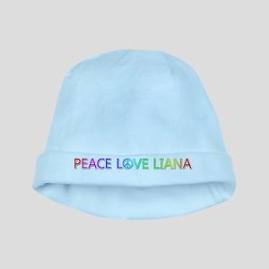 Peace Love Liana baby hat