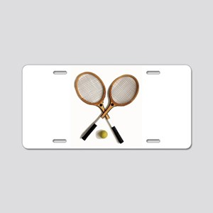 tennis rackets , sports, ba Aluminum License Plate