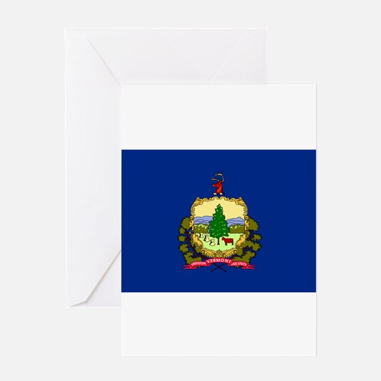 Vermont State Flag Greeting Card