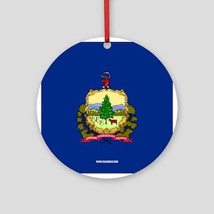 Vermont State Flag Round Ornament