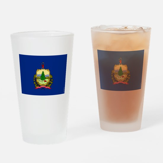 Vermont State Flag Drinking Glass
