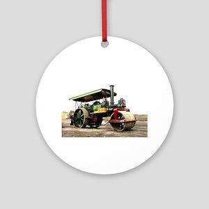Vintage Steam Roller, engine, Round Ornament