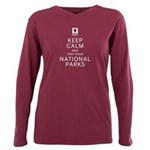 Keep Calm Plus Size Long Sleeve Tee