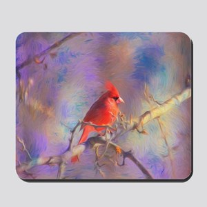 Lovely Cardinal Mousepad