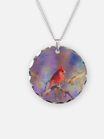 Lovely Cardinal Necklace