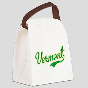 Vermont Script Font Canvas Lunch Bag