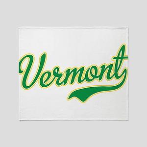 Vermont Script Font Throw Blanket