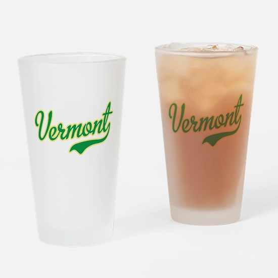 Vermont Script Font Drinking Glass