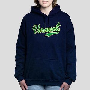 Vermont Script Font Women's Hooded Sweatshirt