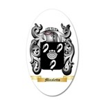 Micaletto 20x12 Oval Wall Decal