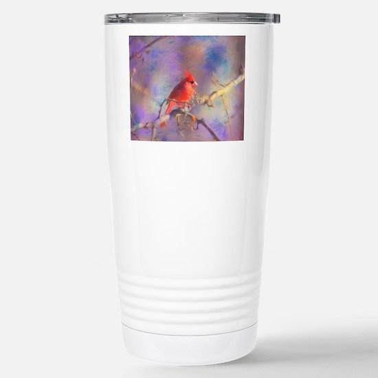 Lovely Cardinal Travel Mug