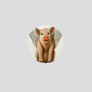 Flying Pig Mini Button