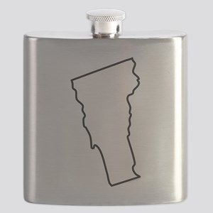 Vermont State Outline Flask
