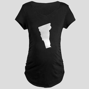 Vermont State Outline Maternity Dark T-Shirt
