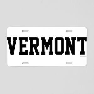 Vermont Jersey Black Aluminum License Plate