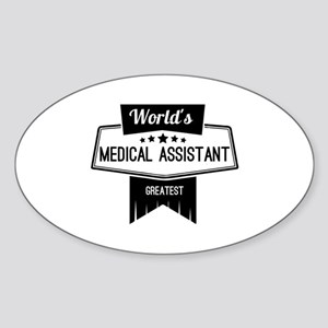 World's Best Medical Assistant Sticker (Oval)