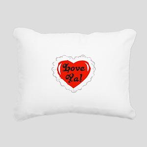 Love Ya Heart Rectangular Canvas Pillow