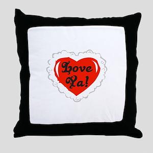 Love Ya Heart Throw Pillow
