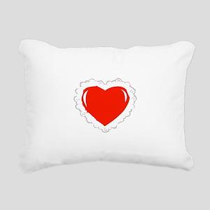 Heart Pillow Rectangular Canvas Pillow