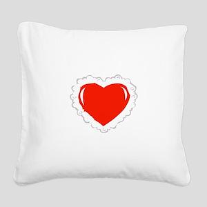 Heart Pillow Square Canvas Pillow