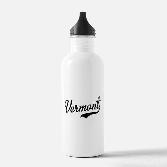 Vermont Script Black Water Bottle