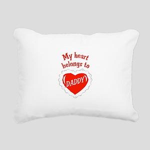 Heart Belongs To Daddy Rectangular Canvas Pillow