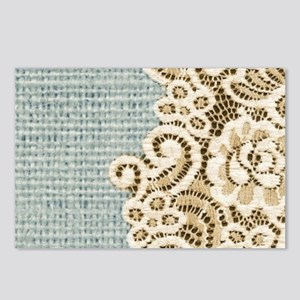 rustic country lace burla Postcards (Package of 8)