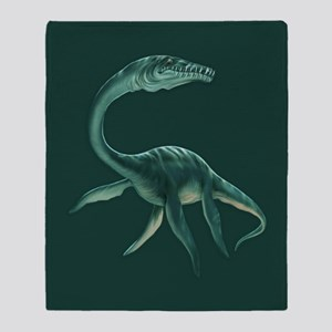 Plesiosaurus Dinosaur Throw Blanket