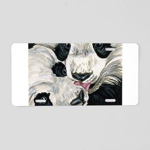 Panda Bear Love Aluminum License Plate