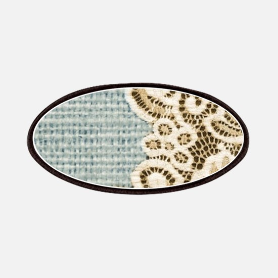 rustic country lace burlap Patch