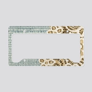 rustic country lace burlap License Plate Holder