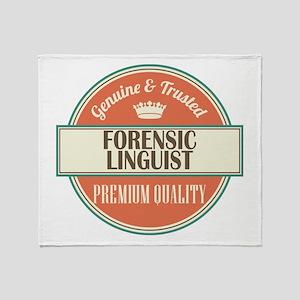 forensic linguist vintage logo Throw Blanket