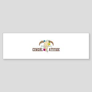 Cowgirl Attitude Bumper Sticker