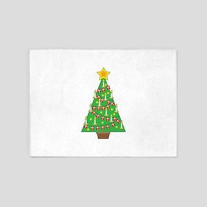 Danish Christmas Tree 5'x7'Area Rug