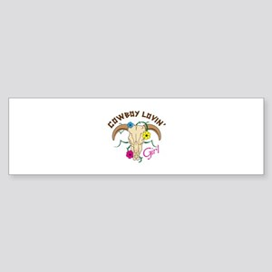 Cowboy Lovin Girl Bumper Sticker
