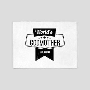 World's Greatest Godmother 5'x7'Area Rug