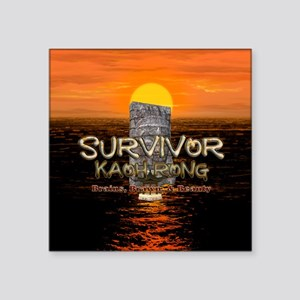 "Survivor Kaoh Rong Square Sticker 3"" x 3"""