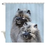 Keeshond Brothers Shower Curtain